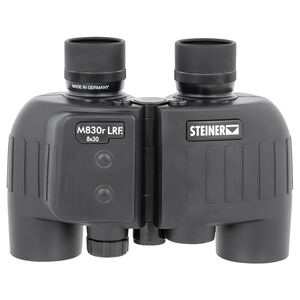 Steiner Optics M830r LRF Binoculars with Laser Rangefinder 8X Magnification 30mm Objective Lens Black