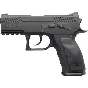 """Kriss SPHINX SDP Compact Alpha 9mm Luger SA/DA Semi Auto Pistol 3.7"""" Barrel 15 Rounds Accessory Rail Rubberized Grip Black Finish"""