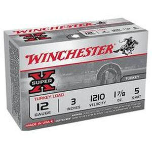 "Winchester Super X 12 Gauge Ammunition 100 Rounds 3"" #5 Plated Lead X123MT5"