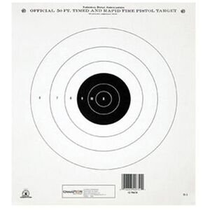 Champion NRA B-3 50 foot Timed and Rapid Fire Target Tagboard 12 Pack 40751