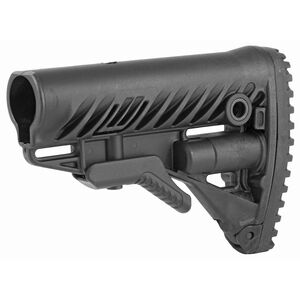 FAB Defense AR-15 Buttstock with Storage Compartment Mil-Spec and Commercial Tubes Polymer Black
