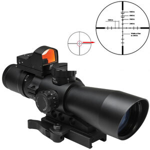 NcSTAR USS Gen II 3-9x42mm Riflescope Illuminated P4 SNIPER Reticle Micro Red Dot 0.5 MOA Adjustments Second Focal Plane Mount Included