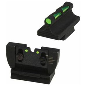 Hiviz LIGHTWAVE Ruger 10/22 Standard Barrel Fiber Optic Sight Set Steel Green RG1022