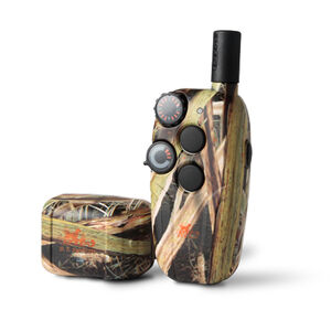 D.T. Systems Master Retriever 1100 Remote Dog Trainer 16 Levels of E-Stim Rechargeable 9V Battery Mossy Oaks Blades Camo