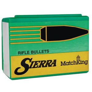 """Sierra MatchKing Bullet .22 Caliber .224"""" Diameter 52 Grain Hollow Point Boat Tail Projectile 100 Count"""