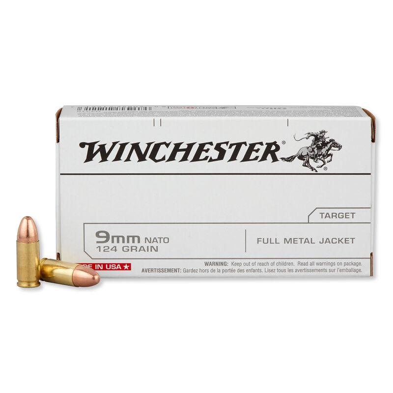 Winchester 9mm NATO Ammunition 50 Rounds FMJ 124 Grains Q4318