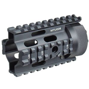 "Leapers UTG Pro AR-15 Pistol 4"" Free Float Quad Rail System Aluminum Black with 4x Rail Covers MTU008"