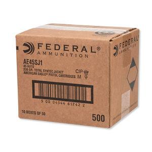 Federal American Eagle .45 ACP Ammunition 500 Rounds TSJ 230 Grains AE45SJ1