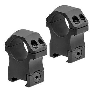 """Leapers UTG Pro P.O.I. Picatinny Scope Rings 1"""" High Aluminum Black 2 Pack"""