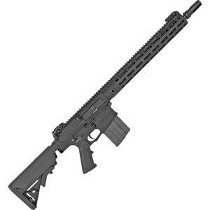 """Knights Armament Company SR-25 Precision Carbine, 7.62 NATO Semi Auto Rifle, 16"""" Barrel, 20 Rounds, M-LOK Handguard, Black Finish"""