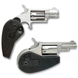"NAA Mini Single Action Revolver .22 LR 1.13"" Barrel 5 Rounds Steel Stainless Polymer Holster Grip NAA-22LR-HG"