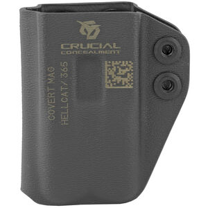Crucial Concealment Covert Mag Inside Waistband Mag Pouch Ambidextrous, Kydex Black Fits Springfield Hellcat/Sig Sauer P365 Magazines
