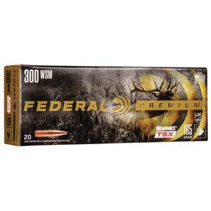 Ammo .300 WSM Federal Vital-Shok Barnes TSX Bullet 165 Grain 3130 fps 20 Rounds P300WSMG