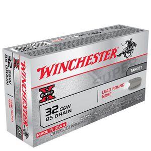 Winchester Super X .32 S&W Ammunition 50 Rounds, LRN, 85 Grains