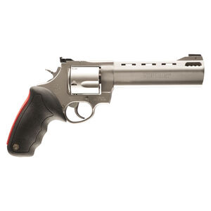 "Taurus Raging Bull 454 Double Action Revolver .454 Casull 6.5"" Ported Barrel 5 Rounds Fixed Front Sight/Adjustable Rear Sight Rubber Grip Matte Stainless Steel Finish"