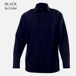 Elbeco UV1 Undervest Men's Long Sleeve Shirt Polyester/Wool 17.5x35 Black