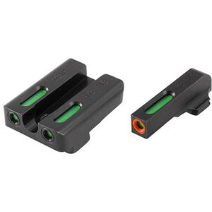 TRUGLO TFX Pro SIG Sauer #6/#8  Front and Rear Set Green TFO Night Sights Orange Ring Steel Black TG13SG2PC
