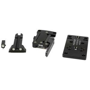 Meprolight MicroRDS CZ 75 Quick Detach Adapter and Backup Sights Black ML881501