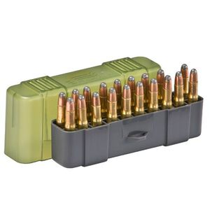 Plano Ammo Box 20 Rounds Small Rifle Polymer Slip Top Green 122820