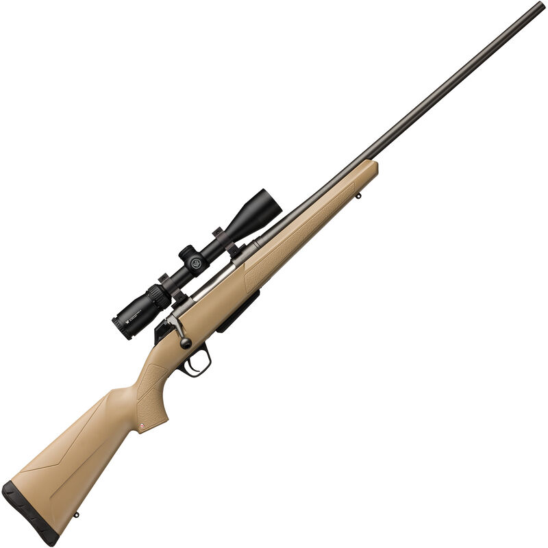 """Winchester XPR Dark Earth Combo .308 Win Bolt Action Rifle with Vortex Scope 22"""" Barrel 3 Rounds Gray Barrel"""