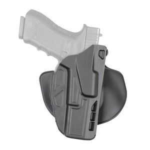 Safariland Model 7378 7TS ALS Paddle Holster Right Hand Fits GLOCK 19/23 with Light SafariSeven Plain Black