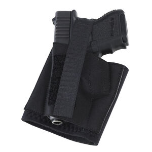 Galco Cop Ankle Band Ankle Holster Fits Ruger EC9S/LCP II Left Hand Neoprene Black