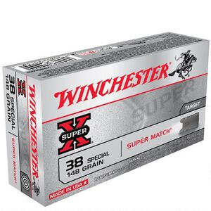 Winchester Super X .38 Special Ammunition 50 Rounds, LWC, 148 Grains