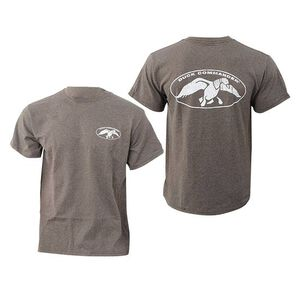 Duck Commander Charcoal T-Shirt With White Duck Commander Logo Size Small Cotton Gray DCSHIRTCWL-S