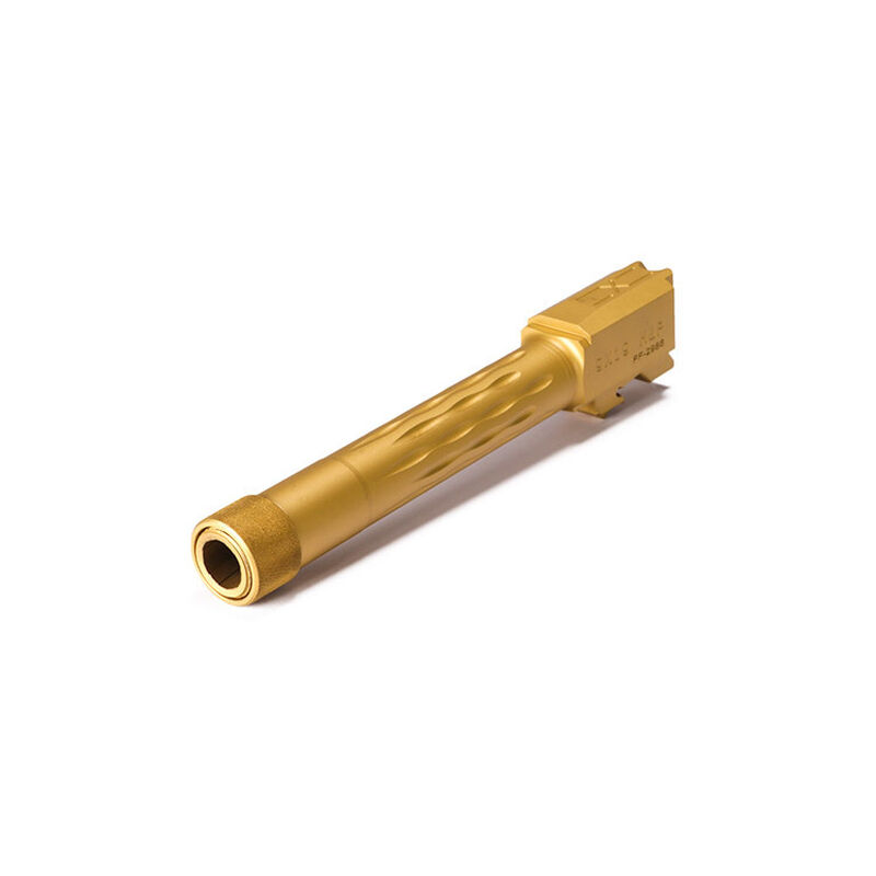 Faxon M&P9 2.0 Compact Flame Fluted Barrel, Threaded, TiN PVD