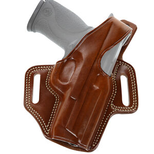 """Galco Fletch High Ride Belt Slide Holster Fits Taurus G2S/Springfield XD-S 3.3"""" Barrel Right Hand Leather Tan"""