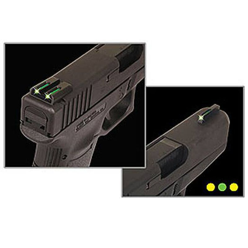 TRUGLO SIG Sauer #6 Front/#8 Rear Brite Site TFO Tritium/Fiber Optic Night Sights Green Front Yellow Rear CNC Machined Steel Black TG131ST2Y