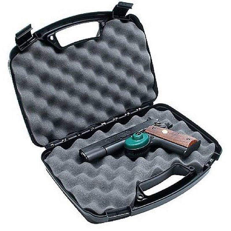 "MTM Case-Gard Single Handgun Hard Case 2 Snap Latches 13"" Plastic Black 807-40"