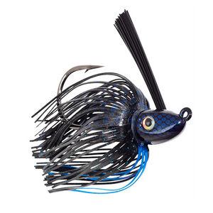 Strike King Hack Attack Heavy Cover Swim Jig 3/8oz Black Blue Per 1