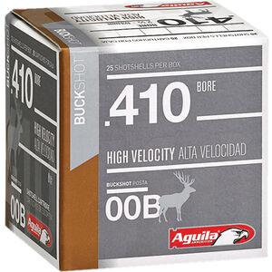 "Aguila High Velocity Buck Shot .410 Bore Ammunition 25 Rounds 2-1/2"" #00 Buck 1/2oz 1100fps"