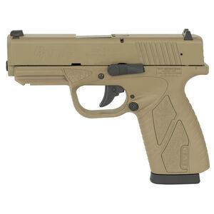 "Bersa BP9CC Semi Auto Pistol 9mm Luger 3.3"" Barrel 8 Rounds Fixed Sights Polymer Frame Full Flat Dark Earth Finish"