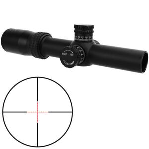TacFire HD 1-4x30 Riflescope Red Mil Dot Reticle 30mm Tube .25 MOA per Click Fixed Parallax Matte Black Finish