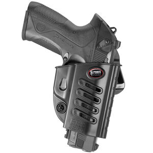 Fobus Evolution Holster Beretta 92,96,PX4 Storm/FN FNS,FNX/S&W Shield .45/Taurus G3 Right Hand Belt Attachment Polymer Black