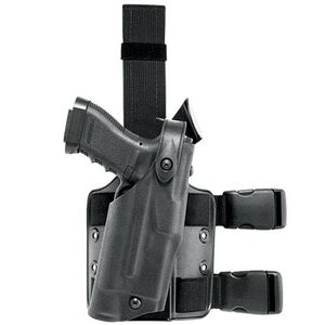 Safariland Model 6304 Tactical Holster with Quick Release Leg Harness Right Hand GLOCK 19 STX Tactical Black Finish 6304-83-131