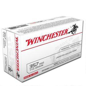 Winchester USA .357 Magnum Ammunition 500 Rounds, JHP, 110 Grain
