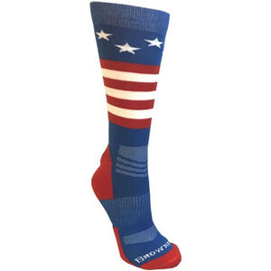 Browning Unisex Stars and Stripes Socks Large Calf Height Polyester Red White and Blue