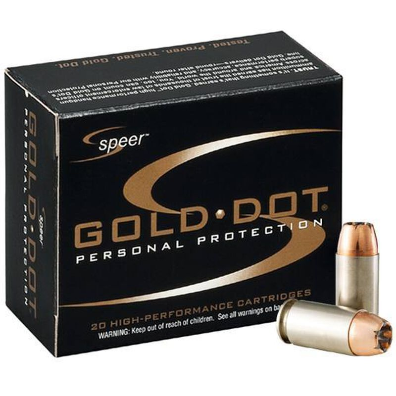 Speer 9mm Luger Ammunition 20 Rounds Gold Dot HP 124 Grains