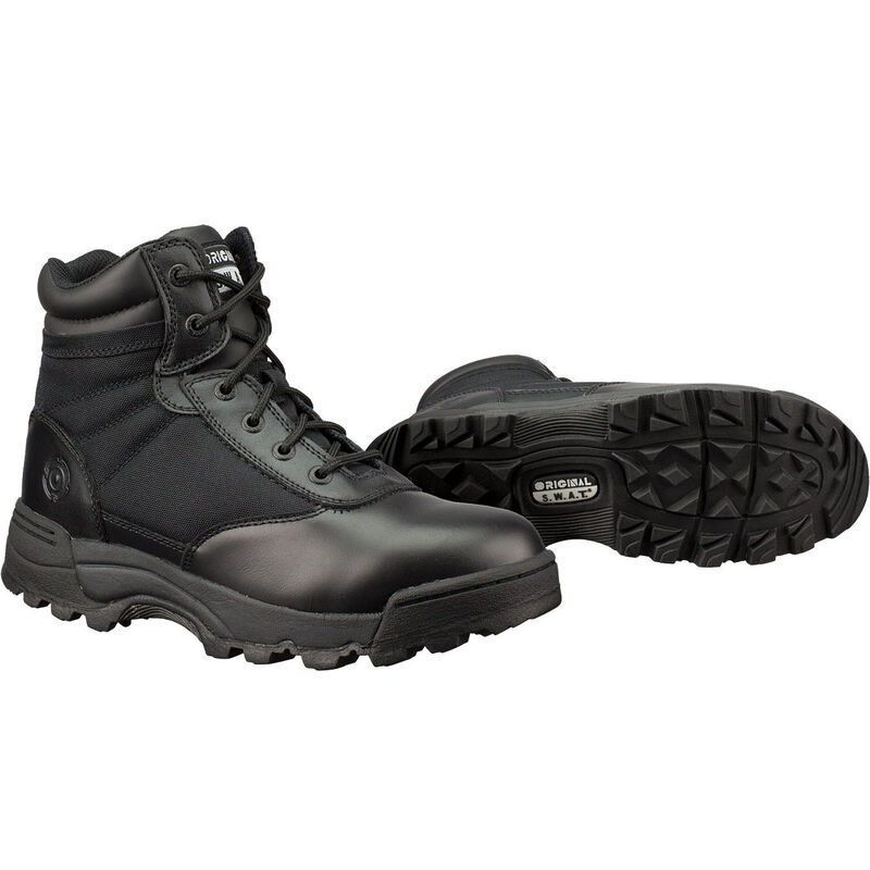 "Original S.W.A.T. Classic 6"" Men's Boot Size 7 Regular Non-Marking Sole Leather/Nylon Black 115101-7"