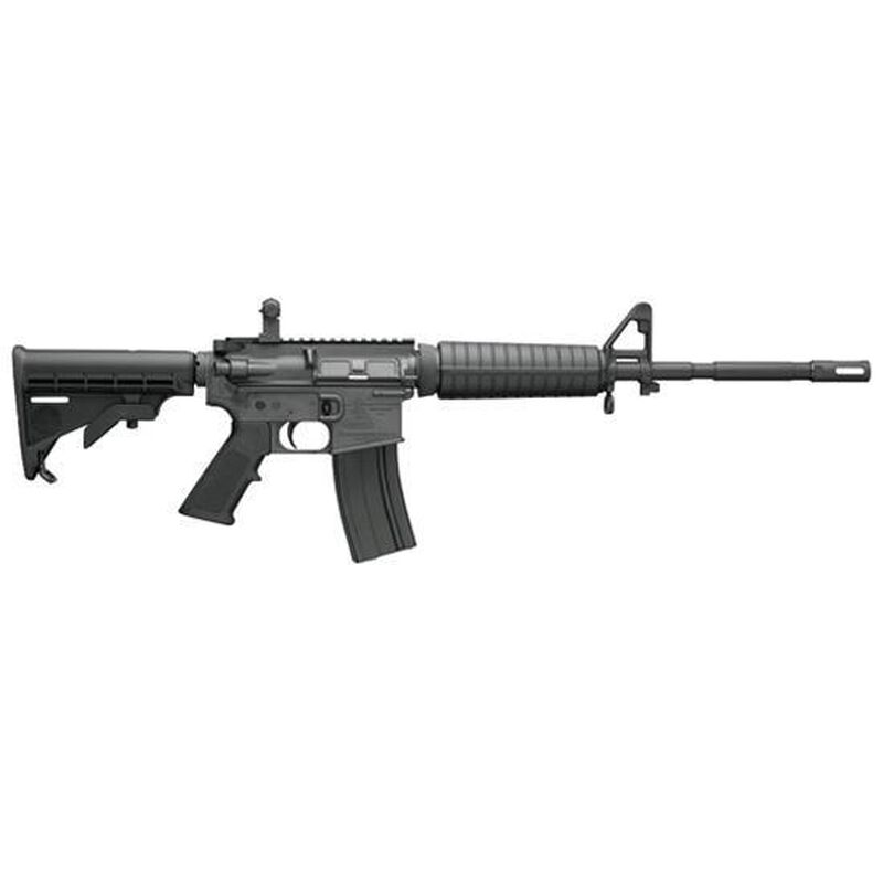 """Bushmaster Carbon 15 M4 Semi Auto Carbine .223 Rem/5.56 NATO 16"""" Barrel 30 Round 6 Position Collapsible Stock M4 with Bayonet Lug and Izzy Compensator A2 Front Sight and Flip Up Rear Sight Black"""