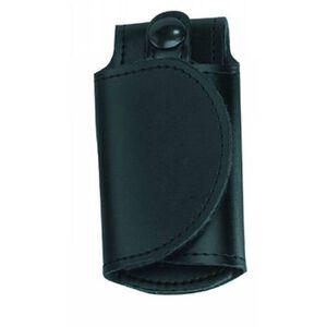 "Gould & Goodrich H598 Silent Key Holder Fits 2.25"" Belts Adjustable Hook and Loop Closure Plain Leather Finish Black"