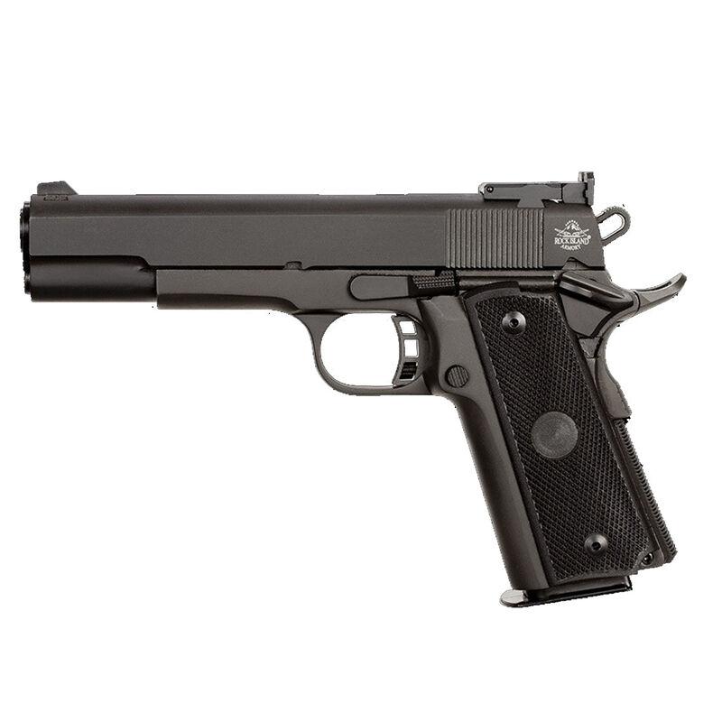 "Rock Island Armory TCM Rock Target Full Size 1911 Semi Auto Handgun .22 TCM / 9mm Luger Conversion 5"" Barrel 17 Rounds Parkerized Steel Frame Polymer Grips Black"