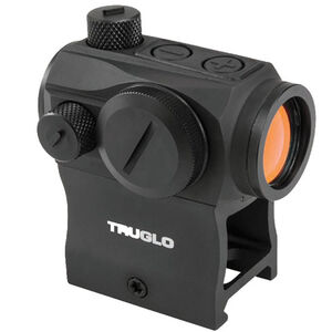 TRUGLO Tru-Tec 20mm Red-Dot Sight, 2 MOA Dot Reticle CR2032 Low and High Base Black TG8120BN