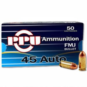 Prvi Partizan PPU .45 ACP Ammunition 230 Grain Full Metal Jacket 836fps