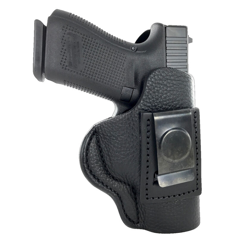 1791 Gunleather Smooth SCH-4 Multi-Fit IWB Concealment Holster for Full Size Semi Auto Pistols Right Hand Draw Leather Black