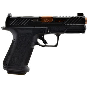 """Shadow Systems MR920 Elite 9mm Luger Compact Semi Automatic Pistol 4"""" Barrel 15 Rounds Tritium Night Sights Optic Cut Polymer Frame Bronze/Black Finish"""