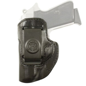 DeSantis Inside Heat S&W Bodyguard 380 IWB Holster Left Hand Leather Black